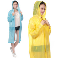 Multicolour translucent raincoat poncho with sleeves disposable trench