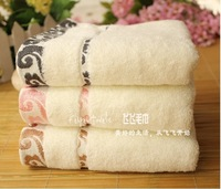 Free shipping 5pieces/lot 100% cotton 34*75cm face towel high quality 0353