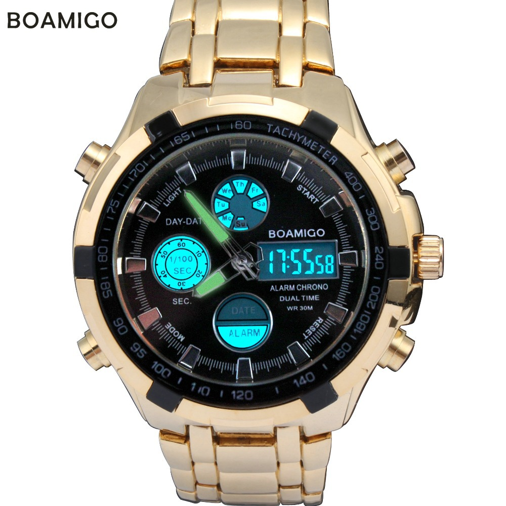 watches men luxury BAMIGO Brand men military sports wristwatches Dual Time Quartz Analog Digital Watch LED watches(China (Mainland))