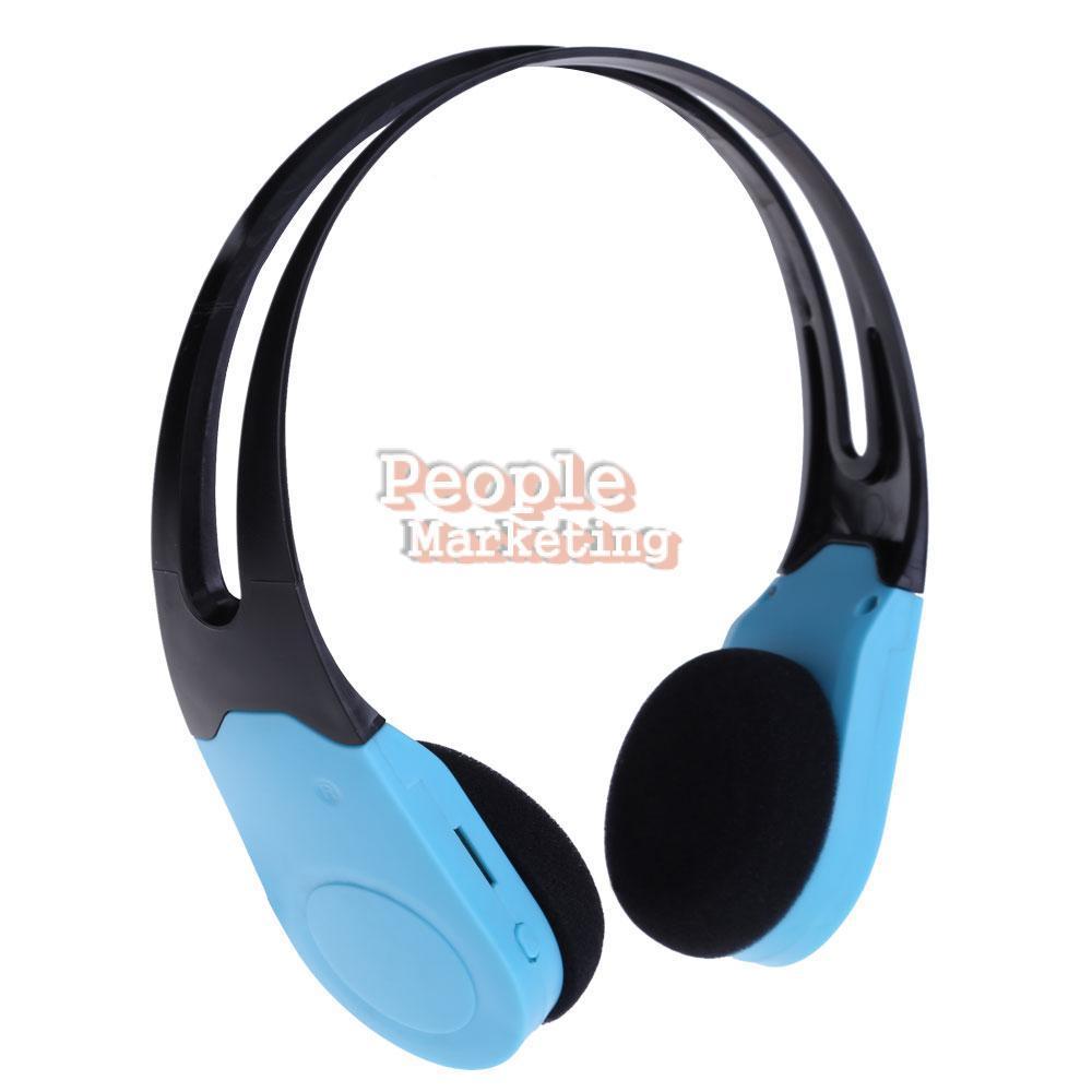 USB Port Wireless Headset Headphone MP3 Player Support TF Card FM Green P4PM(China (Mainland))
