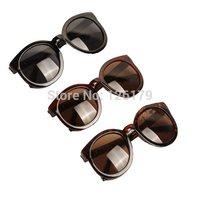 Brazil Fashion 2014 New Cat Eye Women Sunglasses Vintage Black Round Shades For Women Cool Mens Sunglasses Accessories