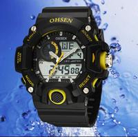 freeshipping 1pcs/lot hot sale new arrival sports OHSEN watches,30M deep waterproof,dual quartz digital movement,6colors choice