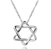 2014 New Arrvial Wholesale Lots Women Hexagram Star Pendant Necklace Jewelry