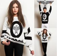 Hip-hop style pullovers BOY print sweatshirt swag 2014 new fashion English high street feminino women Sweatshirts free shipping