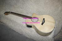 Wholesale -Natural Taylor Acoustic Electric Guitar Fishman Pickup Maple Back sides Wholesale Guitars