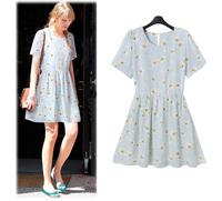 Hot Sales XL-5XL Free Shipping 2014 Summer New Arrival Women Sunflower Dress Chiffon Dress Lady European Style Best Quality