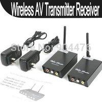 2.4GHz Signals 4 Channels AV Audio Video Sender Wireless Transmitter Receiver For CCTV Camera DVD VCR DVR New Free Shipping