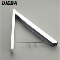 Free Shipping Wholesale And Retail Promotion Space Aluminum Clothes Drying Hanger Foldable Laundry Rack Bathroom Accessories