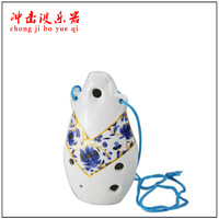 MASTERPIECE - PROFESSIONAL CERAMIC POTTERY OCARINA FLUTE six holes ocarina porcelain flute - beautiful bamboo blessing gift