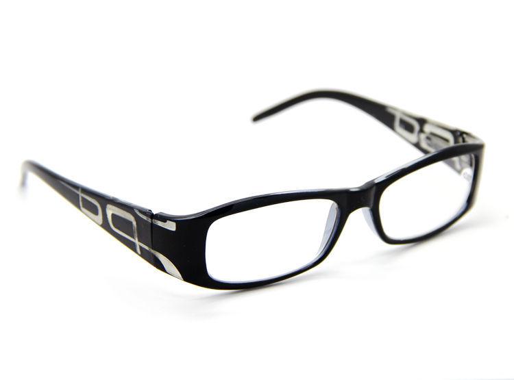 Black Frame Designer Glasses : Black Frame Designer Fashion Reading Glasses Spring Temple ...