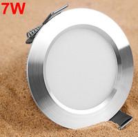 Free shipping 7W Ceiling downlight Epistar LED ceiling lamp Recessed Spot light 85V-245V for home illumination 10pcs/lot