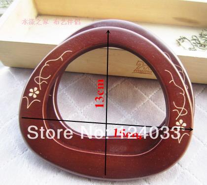 U-shape wooden handle bag accessories,bag handle 30 pairs of 15*13cm ,wooden purse handles,wood handbag handle Wholesale 9856556(China (Mainland))