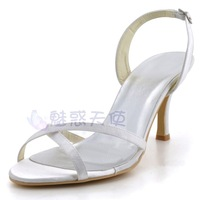MZ628 wholesale free shipping 2014 satin beige sandals big size open toe shoe thin heels platform high-heeled formal dress shoes