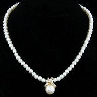 2014 New Fine Jewelry Pearl Necklaces Pendants Rhinestones Gold Silver Collier Colar Statement Necklace women Men Jewelry Loom