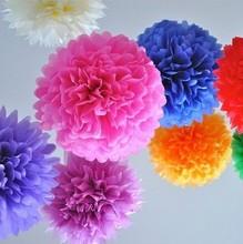 20000pcs/Lot New Arrival Diy Pom Multicolour 18 Inch Paper Wedding Flowers Balls Wedding Decoration Flower Free Shipping(China (Mainland))