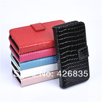 Croco Leather Wallet Case for Samsung Galaxy S3 i9300, With Cards slots and stand, 200pcs/lot 50pcs per color, Free Shipping