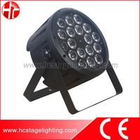 18X12w 5 in 1 led par 64 rgbwa dj led par cans light