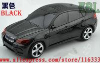 High Quality Fashion Portable Car Shape Speaker Support TF Card, Usb & FM radio, Mini stereo speaker DHL Free shipping 30pcs/lot