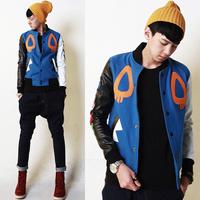 Y101f90 baseball shirt men's jacket woolen lovers baseball shirt material vintage lovers