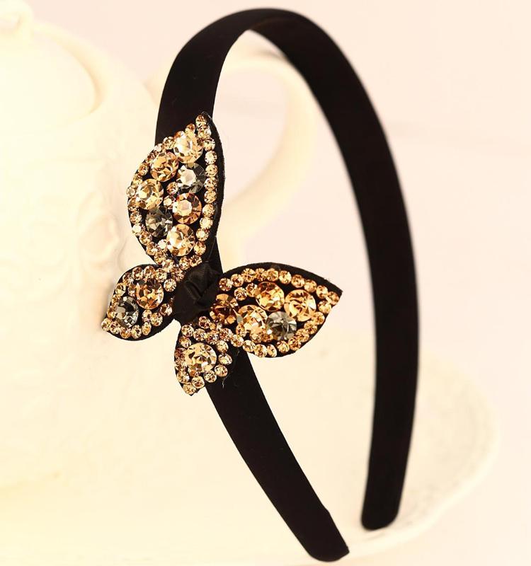 new arrival women luxury rhinestone hair bands austrian diamond elegant headband hairpin hair accessory hair accessory 3colors(China (Mainland))