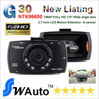 2014 New Novatek 96650 G30 Car DVR with 1080P 2.7 inch TFT Screen + HDMI + G-Sensor + Night Vision + 170 Degree Angle Lens