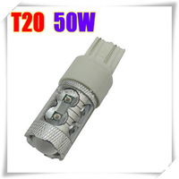 6pcs T20 50W High Power LED Car Turn Signal Light Bulb 12V 10 LED Reverse Backup Lamp Tail Stop Brake Bulb Light
