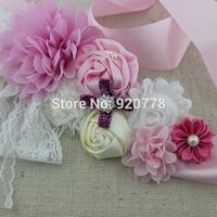 1pcs New Arrival flower girl sash, pink ribbon belt,Chic shabby flower sash, Maternity sash ,wedding sash