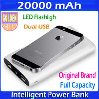 20000mAh Mobile Phone Chargers Emergency Power Bank LED 2 USB External Battery Power Portable Charger for Mobile Phone/Tablet PC