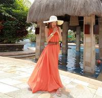 2014 beach vacation chiffon dress bohemian dress beach UV protection sun thin skirt