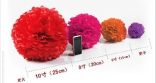 "20000pcs/lot 12"" 30cm Tissue Paper Pom Poms Flower Balls, Wedding Pom Poms, Baby Shower, Nursery, Wedding Decoration(China (Mainland))"