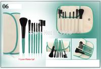 Hot Sale!! 7pcs nylon hair make up beush set with bag six color for choose