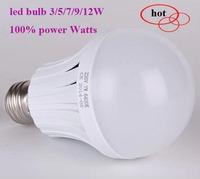 Absolute Foot Power, 100% power watts,3w 5w 7w 9w 12w led bulb 110-240v E27/B22 led lamp smd led Light spotlight free shipping