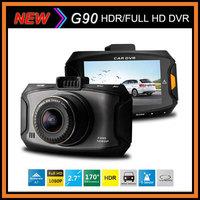 "Free Shipping Ambarella A7 Car DVR Video Recorder Dash Camera G90 HDR 1920*1080P 30FPS 2.7""LCD G-Sensor 170 Degree Night Vision"