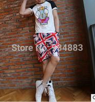 Fashion Boy Summer Splicing Beach Shorts Casual Short Pants Knee-length Board Shorts for Male Free Shipping + 10 pattern designs