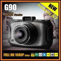 "NEW Arrival Ambarella A7 Car DVR G90 Full HD 1920*1080P 30FPS 2.7"" LCD+HDR+G-Sensor+H.264+Night Vision Video Recorder Dash Cam"