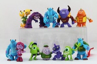 Free shipping 12pcs/Set Monsters Inc. Monsters University Mike Sully Action Figure Toys For Children Gift  pvc figures