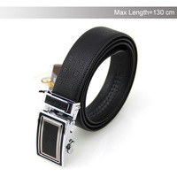 2015 New Genuine Leather Belt Automatic Buckle Black Belt Men's Leather Belt Big Size 44-52 Free Shipping YD20140529010