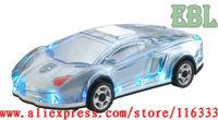 30pcs/lot LED Car Shaped Mini Portable Music Speaker Car Shaped USB TF card Mp3 speaker sound box With FM radio