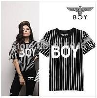 FREE SHIPPING  2014 street fashion short sleeve eagle pattern printing t-shirt Boy london cotton t shirts