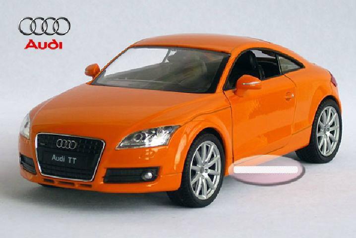 New 1:24 AUDI TT Alloy Diecast Car Model Toy Collection Orange B1525(China (Mainland))
