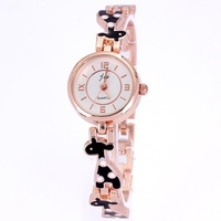 New popular fashion clock women quartz brand gold rose drop rubber lovely animal bracelet designer 3 colors free shipping