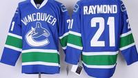 Wholesale Ice Hockey Jerseys Vancouver Canucks 21 Mason Raymond Home Blue A Patch Jerseys Throwback Embroidered Logo