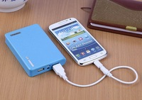12000mah Wallet Style Portable Dual USB Power Bank External Battery Charger for all Mobile Phone free shopping