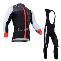 free shiping 2014 Castelli team long sleeve cycling jersey + bib pants/bicycle wear/bike clothes