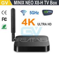 MINIX NEO X8-H X8 -H X8H 4K Android TV Box Quad Core Amlogic S802-H 2GB 16GB XBMC Kitkat 4.4 Smart TV Box Mini PC