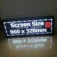 DIYr P10 Scrolling Programable LED Screen  White Color Module 6 pcs+ 1PC power Supply + 1PC LED Controller +1set Frame
