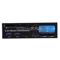 UN2F 5.25inch USB 3.0 Media Dashboard Temp Front Panel PC Multi Card Reader SATA