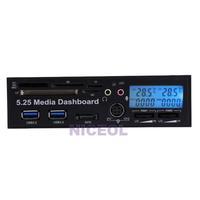 NI5L 5.25inch USB 3.0 Media Dashboard Temp Front Panel PC Multi Card Reader SATA