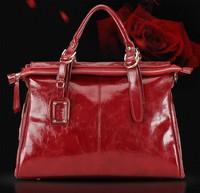 Hot Sale Fashion Desigual Oily Genuine Real Leather Vintage Brand Women Handbags Totes Big Shoulder Bag Messenger Bag Black 2014