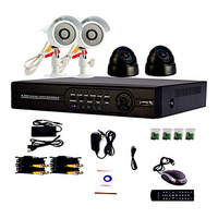 4 Channel One-Touch Online CCTV DVR System(4 Channel D1 Recording,Camera with Sony CCD)